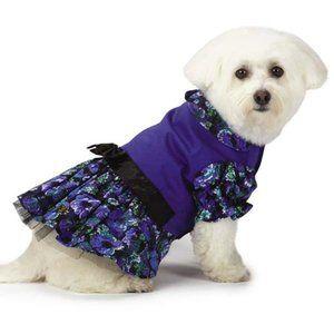 M Isaac Mizrahi Floral Party Dog Dress S M New